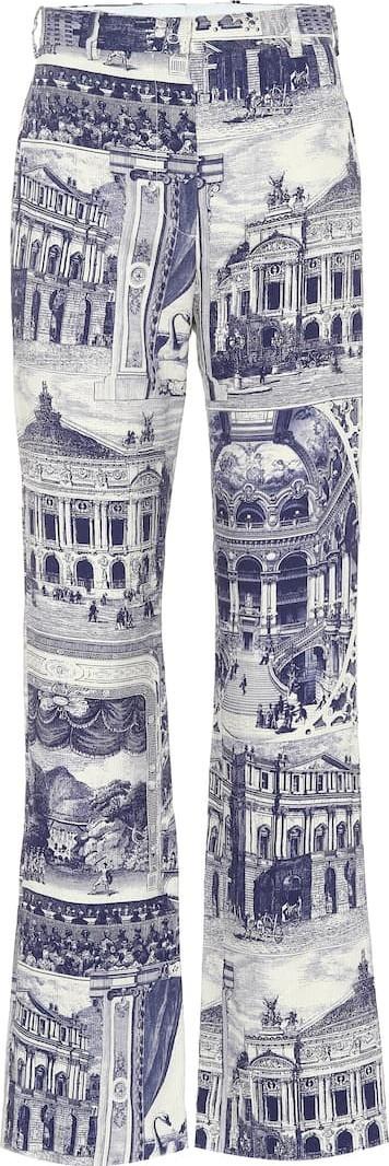 Acne Studios Phine printed linen-blend pants