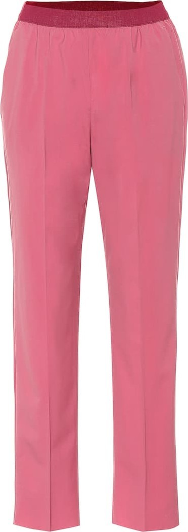 Agnona High-rise straight wool pants