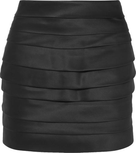 Redemption Cummerbund pleated silk-satin mini skirt