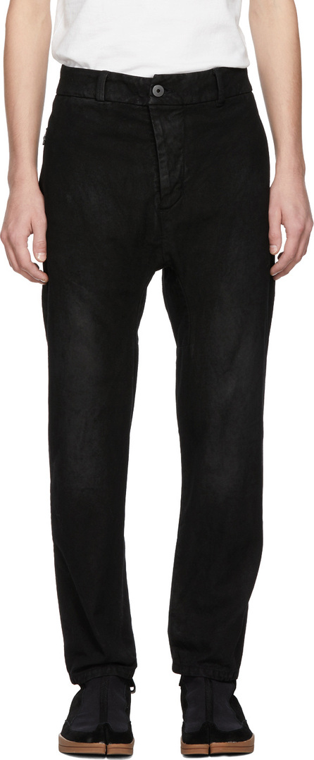11 By Boris Bidjan Saberi Black Denim Crust Trousers