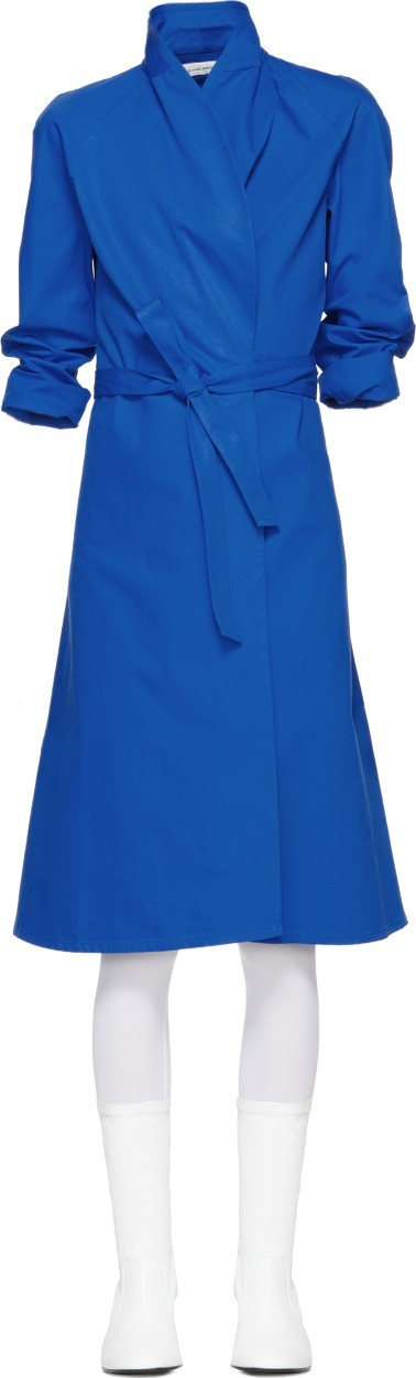 A_Plan_Application Blue Directoire Wrap Dress