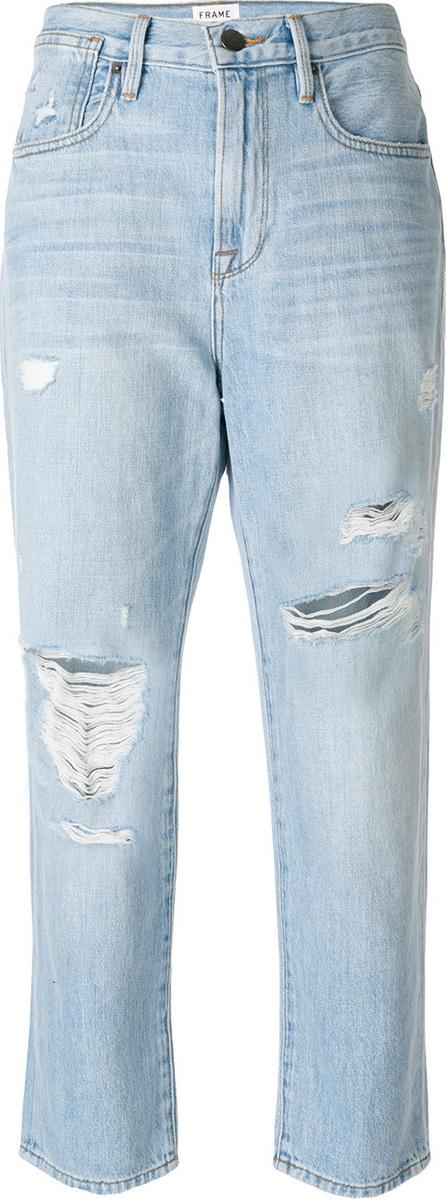 FRAME DENIM Distressed cropped jeans