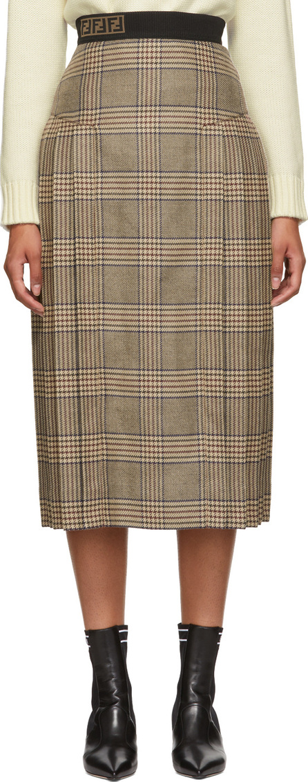 Fendi Multicolor 'Forever Fendi' Plaid Skirt