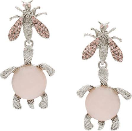 Oscar De La Renta Wasp and turtle clip on earrings