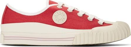 Acne Studios Blå Konst Red Blå Konst Tennis Sneakers