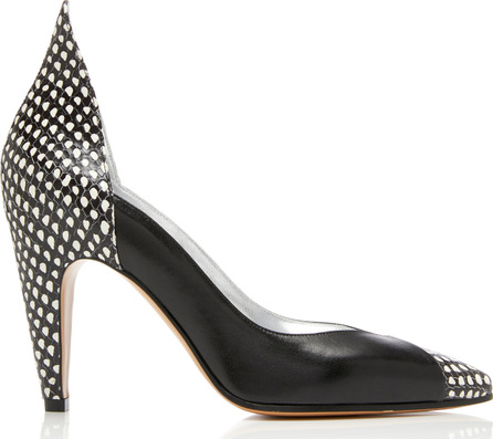 Givenchy Paneled Snake-Effect Leather Pumps