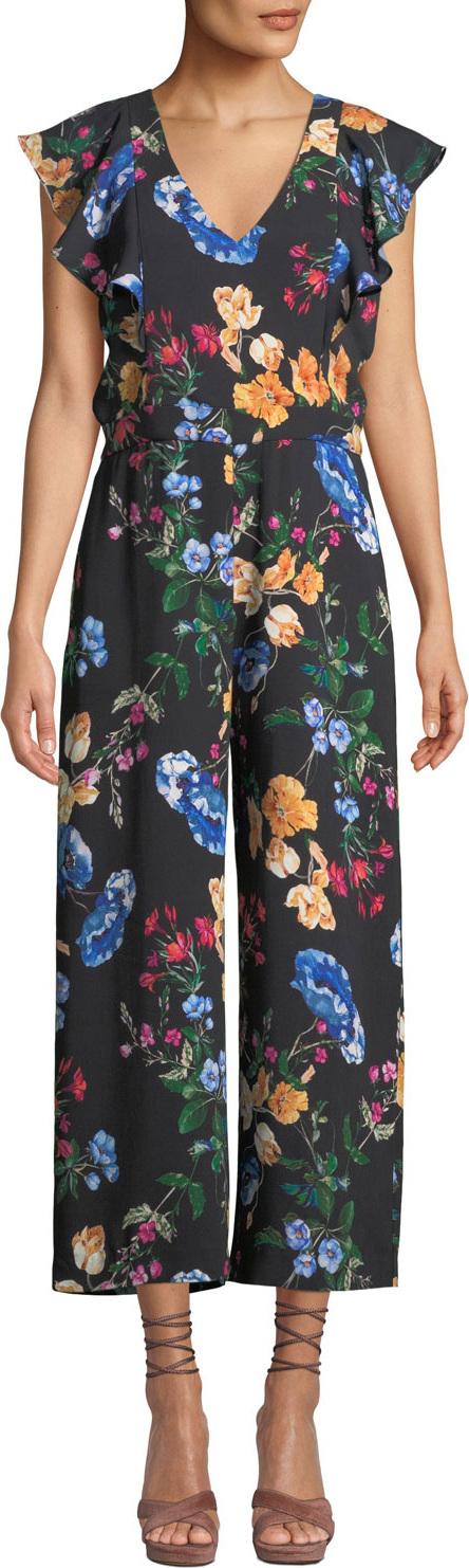 Parker Tommi Floral Ruffle Combo Jumpsuit