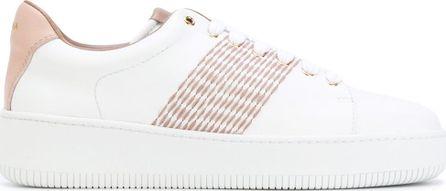 Agnona embroidered stripe sneakers