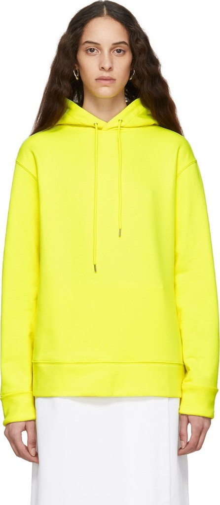 A_Plan_Application Yellow Oversized Hoodie