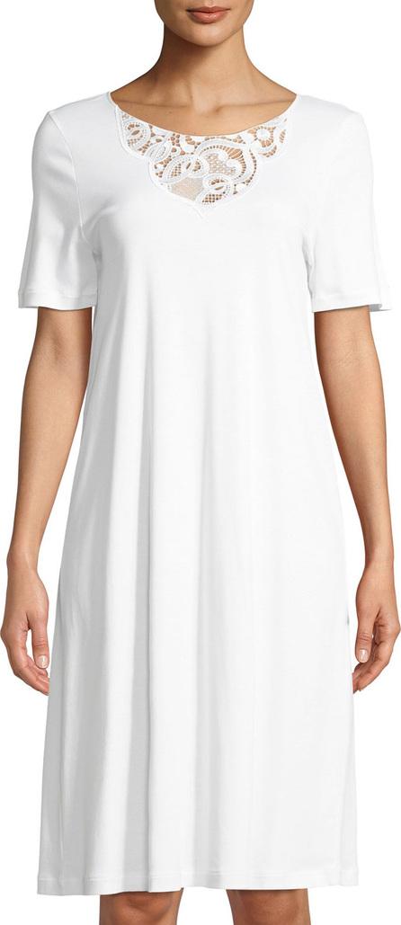 Hanro Ella Short-Sleeve Nightdress