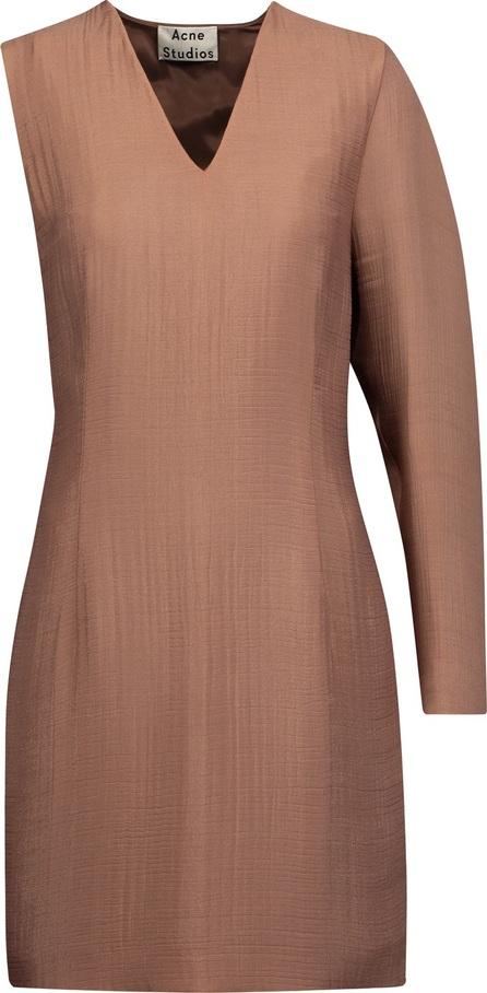 Acne Studios Sage asymmetric twisted cloqué mini dress