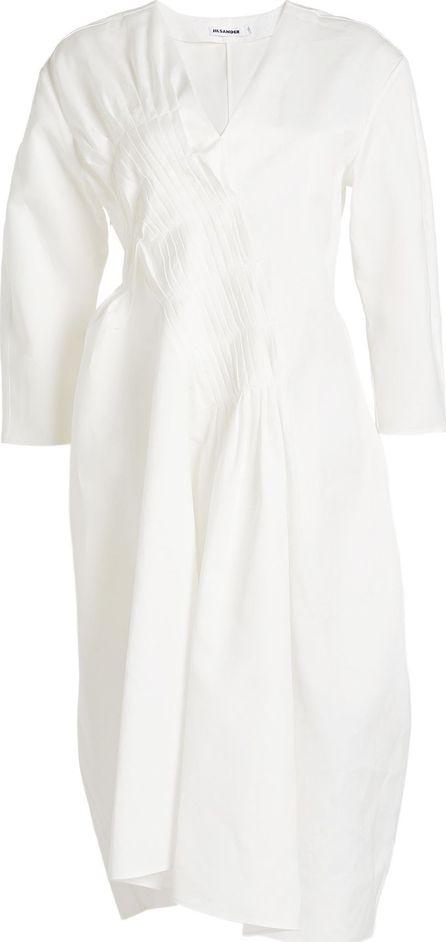 Jil Sander Cotton Dress with Pleats