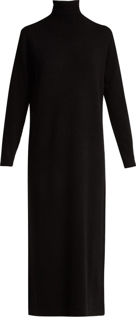 Allude Roll-neck wool and cashmere-blend dress