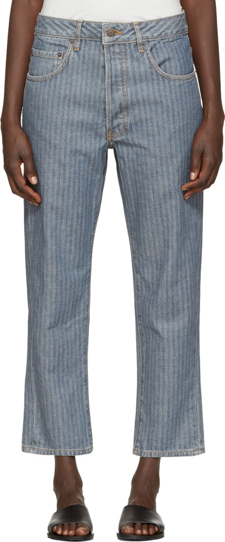 6397 Indigo Herringbone Shorty Jeans