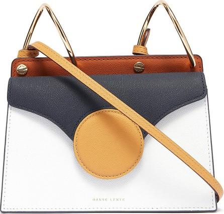 Danse Lente 'Phoebe' spiral handle colourblock leather mini crossbody bag