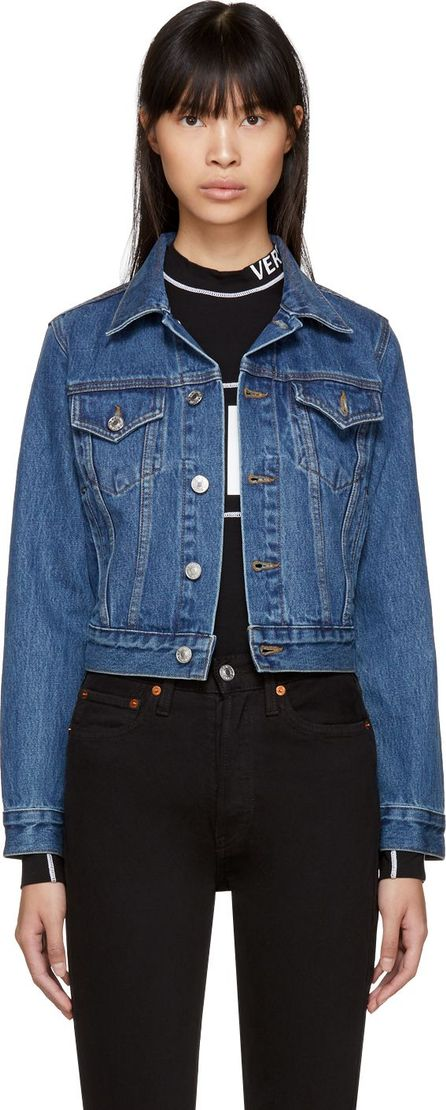RE/DONE Blue Originals Classic Denim Trucker Jacket