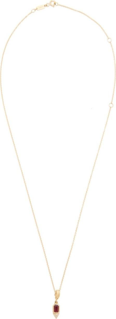 Azlee Ruby, diamond & 18kt gold necklace