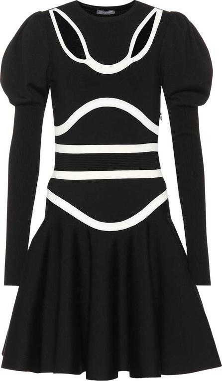 Alexander McQueen Wool-blend jersey minidress