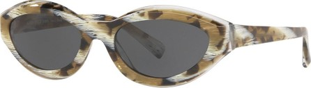 Alain Mikli Oval Acetate Sunglasses