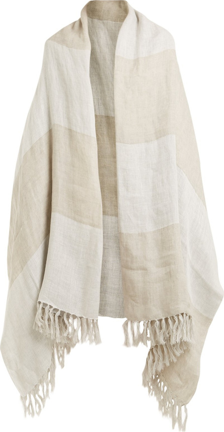 Brunello Cucinelli Oversized linen scarf
