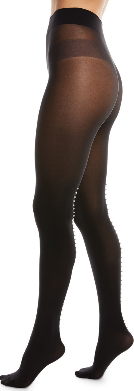 Wolford Mother-of-Pearl Back-Seam Tights