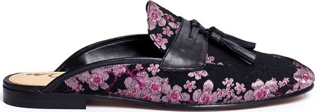 Sam Edelman 'Paris' tassel blossom jacquard slide loafers