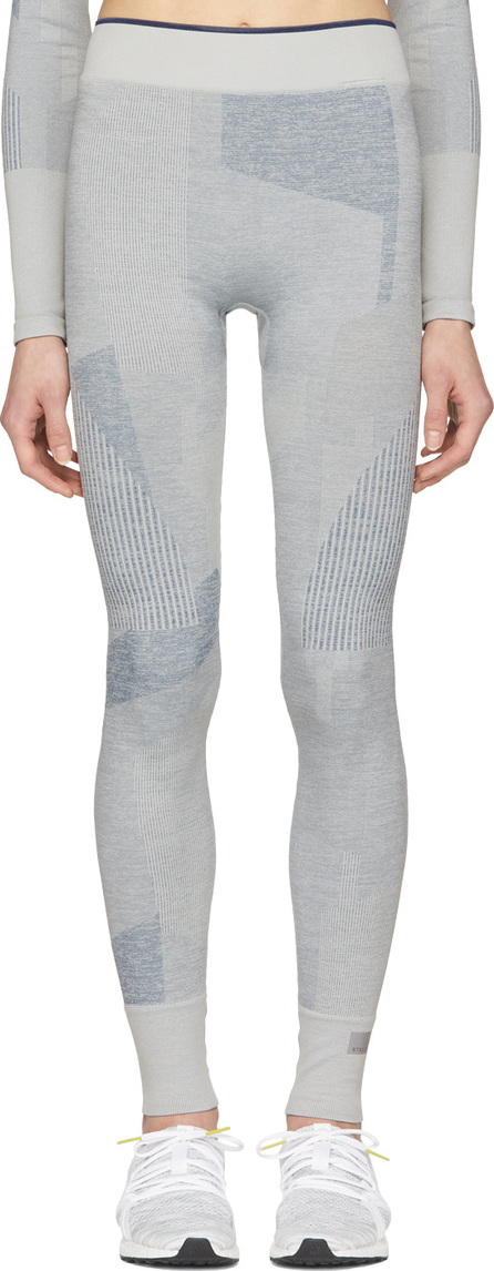 Adidas By Stella McCartney Grey Training Seamless Block Tights