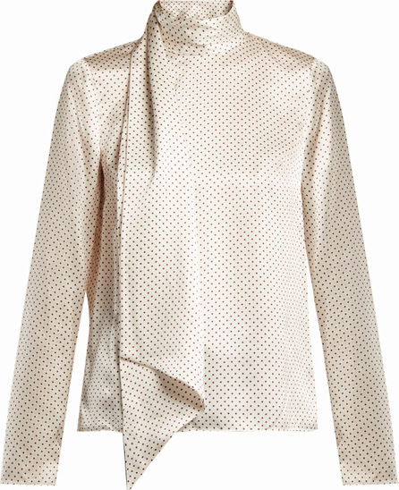 Erdem Yvonna polka dot-print silk blouse