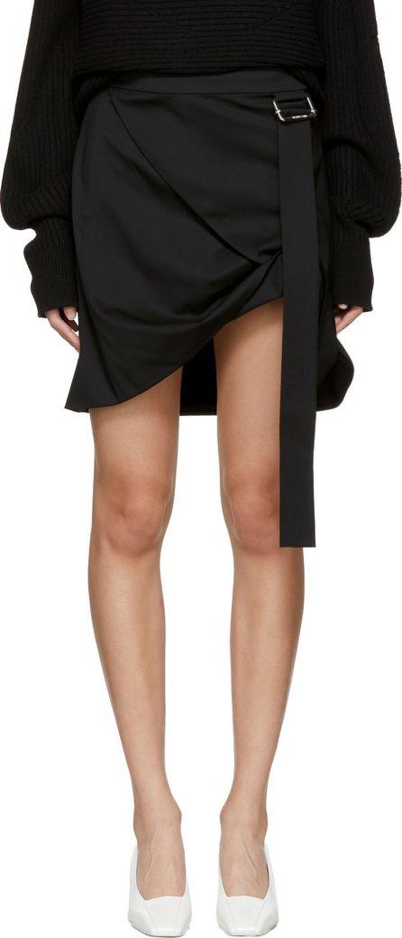 Helmut Lang Black Pull Up Skirt