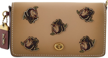 COACH 1941 Dinky Rose-Applique Leather Crossbody Bag