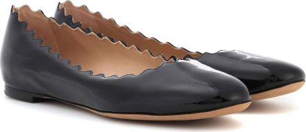 Chloe Lauren patent leather ballerinas
