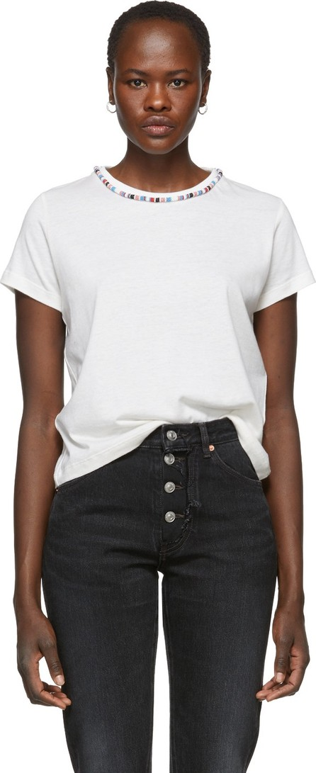 Alanui White Tubular Beads T-Shirt