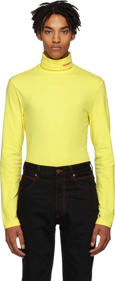 Calvin Klein 205W39NYC Yellow Logo Turtleneck