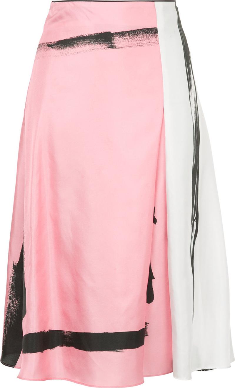 Christopher Esber - Painterly stripe colour block skirt