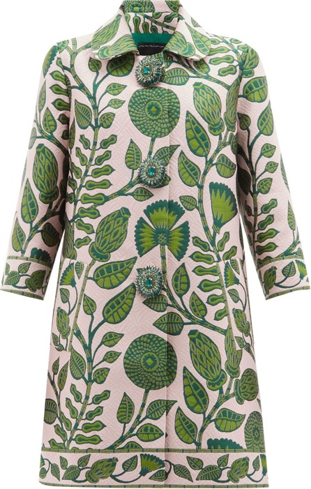 Andrew Gn Floral-brocade single-breasted coat