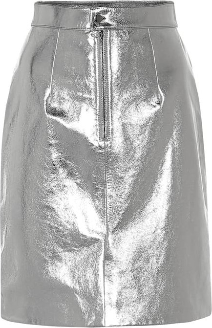 Alexachung Metallic leather pencil skirt