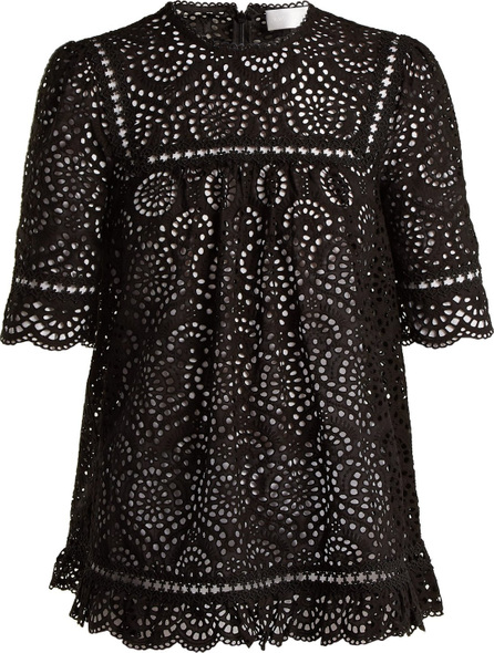 Zimmermann Tali Swirl broderie-anglaise cotton top
