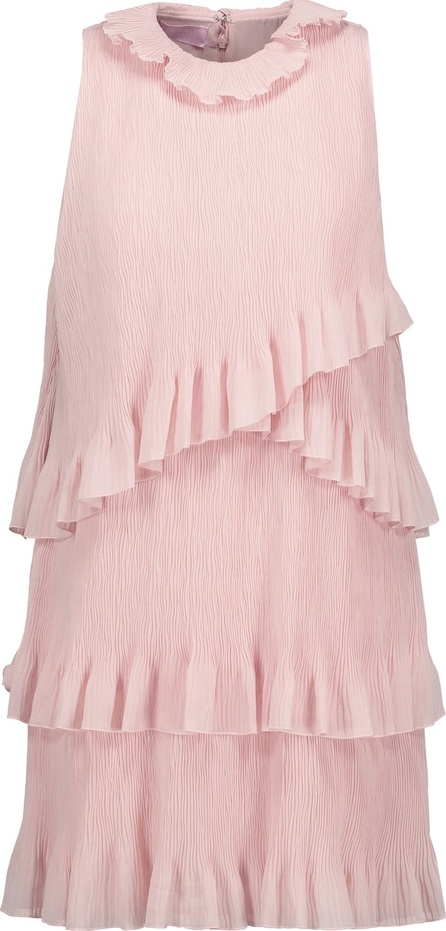 GIAMBA Tiered crinkled-gauze mini dress