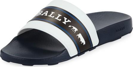 Bally Men's Ani 6 Rubber Pool Slide Sandals
