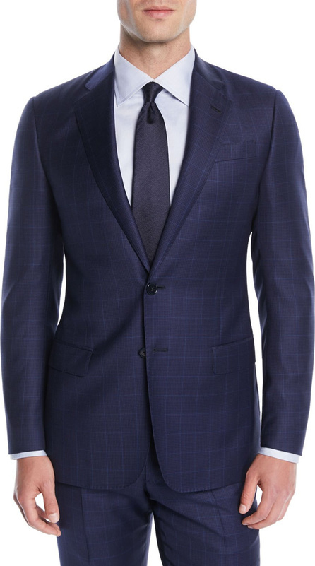 Giorgio Armani Men's Windowpane Two-Piece Wool Suit