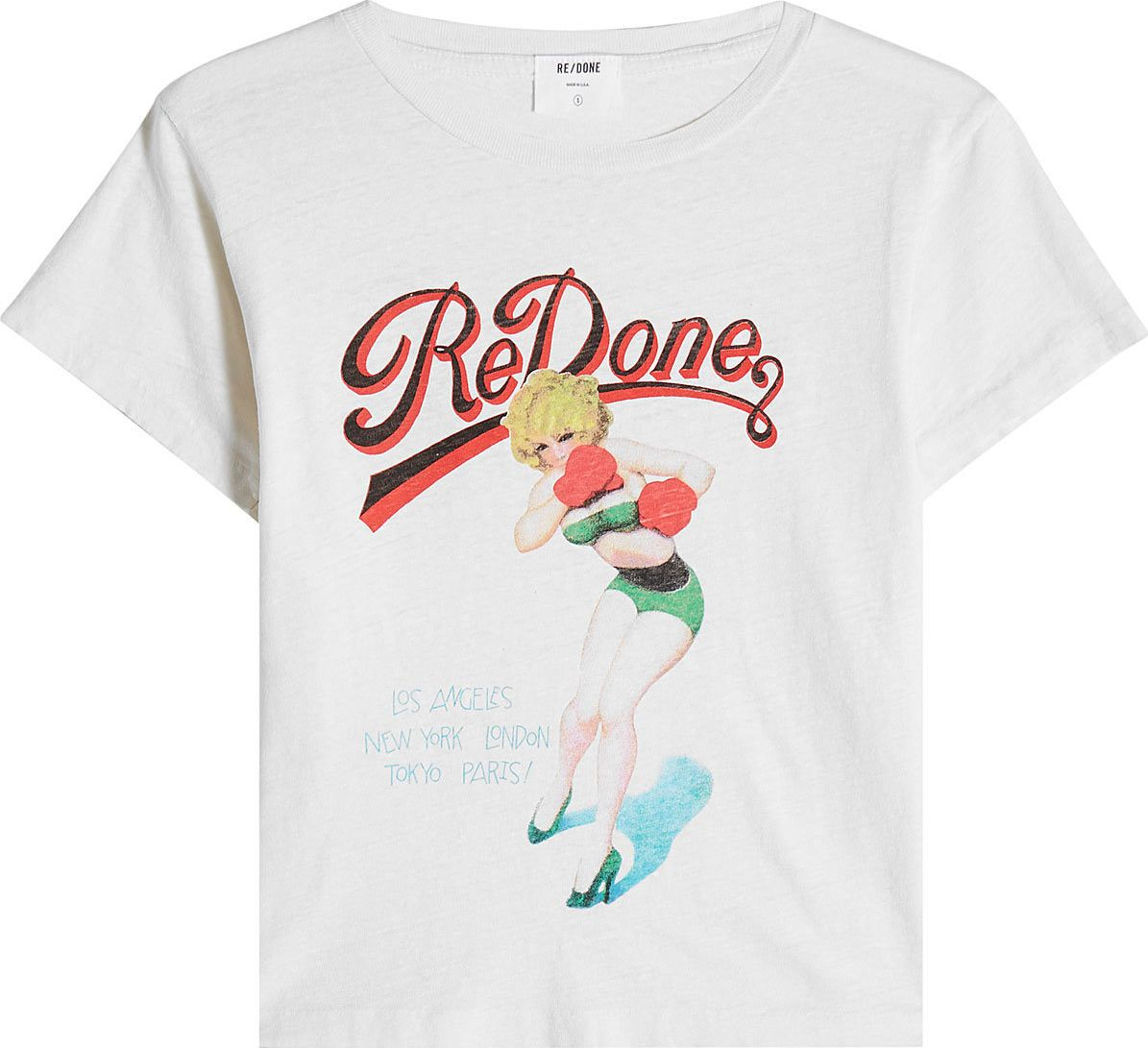 RE/DONE - Printed Cotton T-Shirt