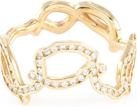 Sarah & Sebastian 'Kintsugi' diamond 10k yellow gold sculptural ring