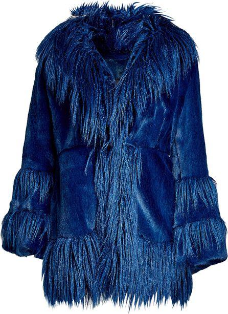 Anna Sui Faux Fur Coat with Fringe
