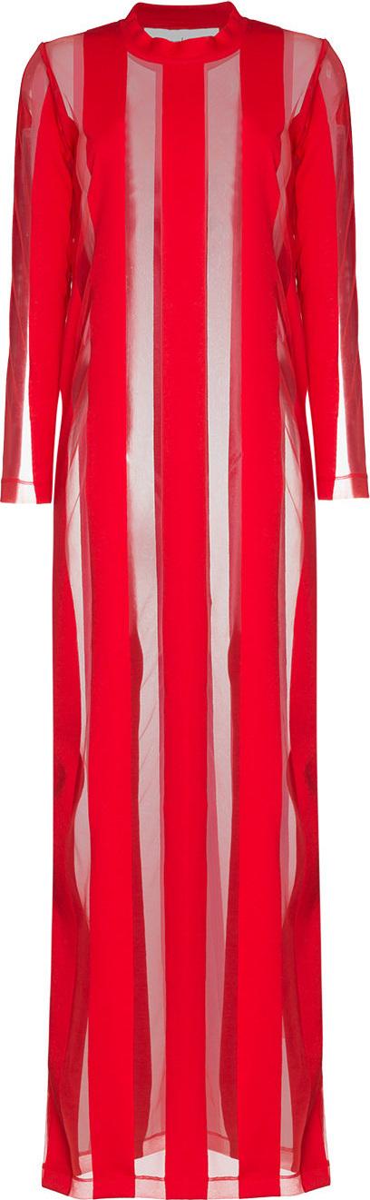 Marques'Almeida Sheer Stripe Maxi Dress
