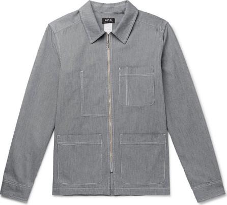 A.P.C. Striped Cotton Chore Jacket