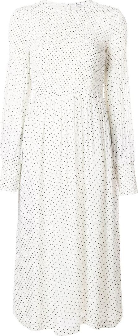 Ganni Polka dot flared dress