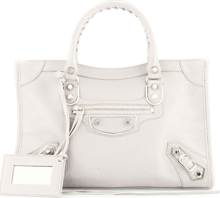 Balenciaga Metallic Edge City Small Tote Bag