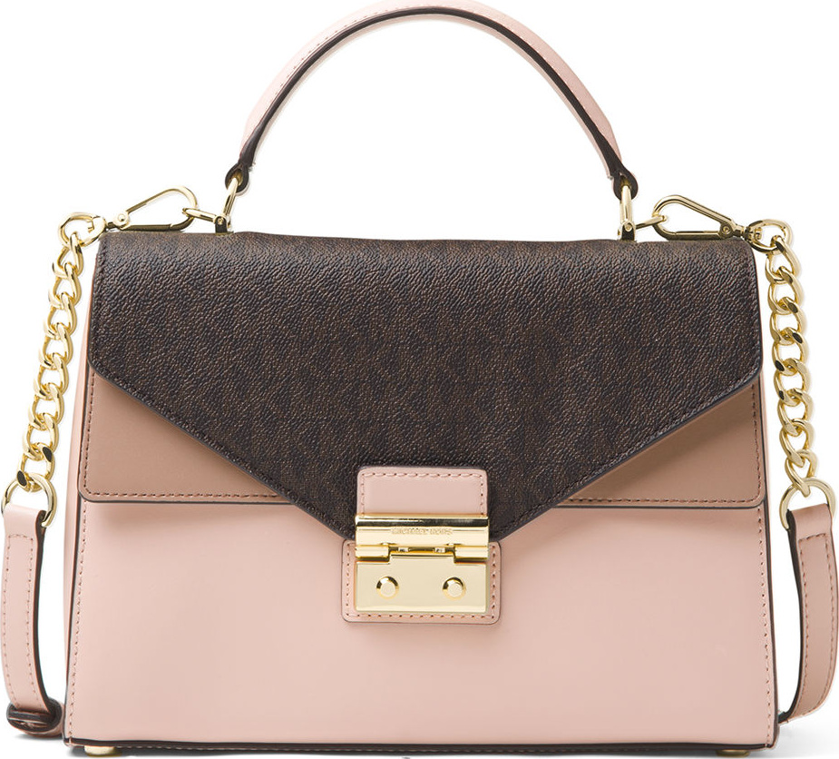 96c88bd08fa5 ... get michael michael kors sloan medium colorblock satchel bag 7909c 2aacd