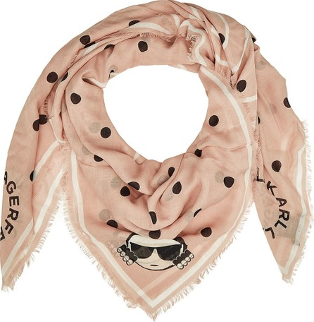 Karl Lagerfeld Karl Dots Scarf with Silk