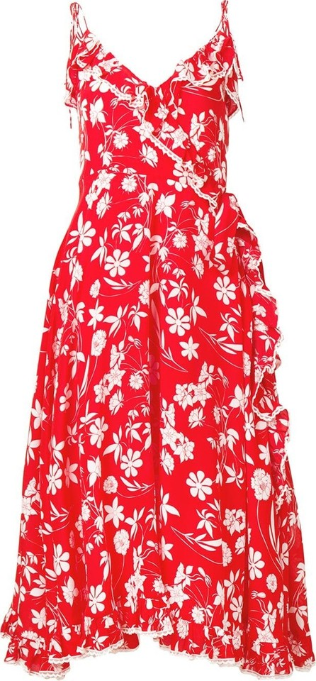 Athena Procopiou Farah floral flared dress